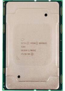 INTEL XEON BRONZE 6 CORE CPU 3104 8.25MB L3 1.70GHZ