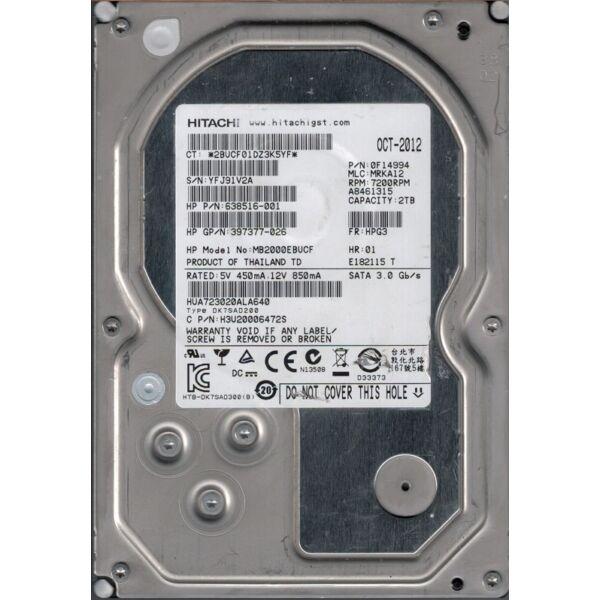 HPE 2TB 7.4K 3G 3Par F-Class - Type DC3 Drive cage