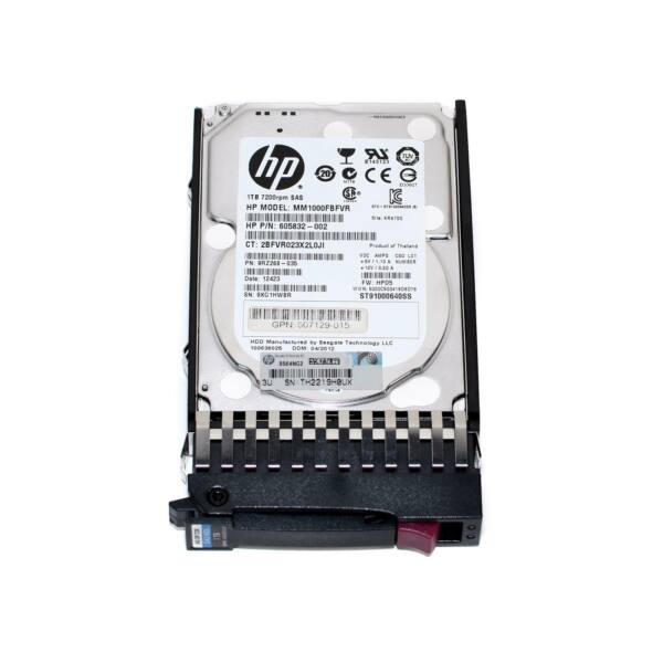 "HP 1TB 6G 7.2K 2.5"" SAS DUAL PORT HARD DRIVE"