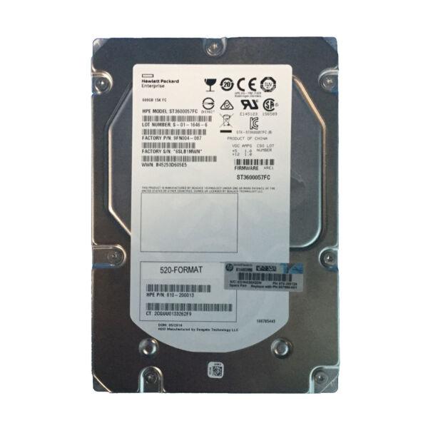 """HP 600GB 15K RPM FC 3.5"""""""" 3Par V-Class/P10000"""