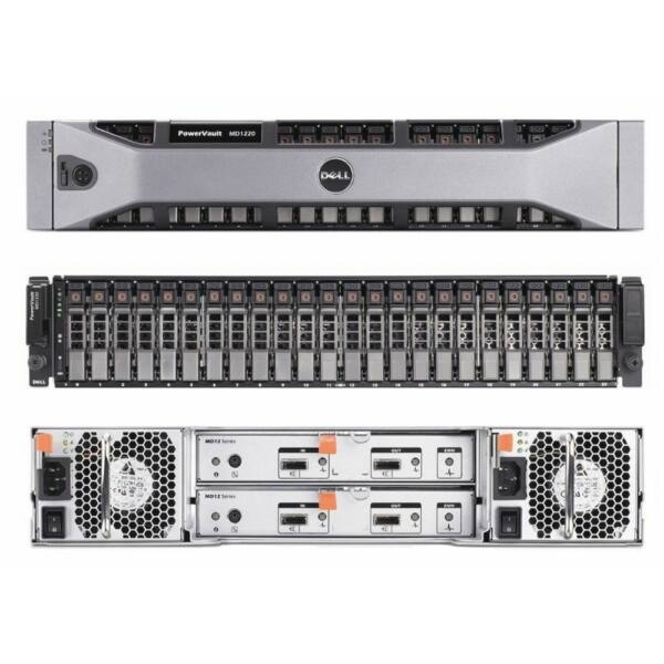 DELL MD1220 POWERVAULT STORAGE ARRAY 2*PSU 2*CTRL